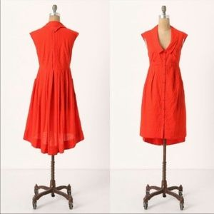 Postmark FOUR CORNERS Red Cotton Dress Size 6